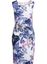 Anna Rose Printed Crinkle Shift Dress
