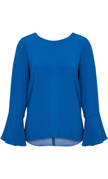 Long Bell Sleeve Textured Top