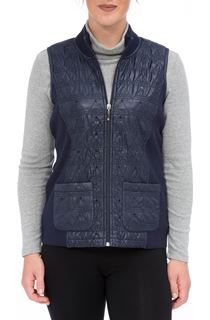 Anna Rose Sequin Trim Gilet - Navy