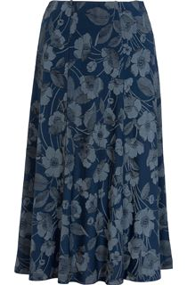 Anna Rose Floral Print Panelled Skirt