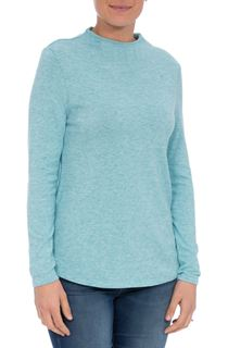 Lightweight Knitted Turtle Neck Top - Sky Blue