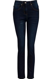 Relaxed Skinny Jeans - Dark Denim