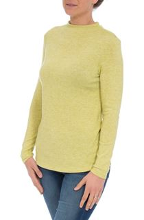Lightweight Knitted Turtle Neck Top - Bright Lime
