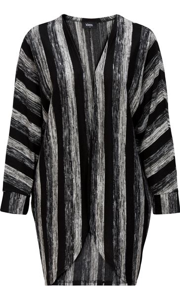 Stripe Open Knit Cover Up
