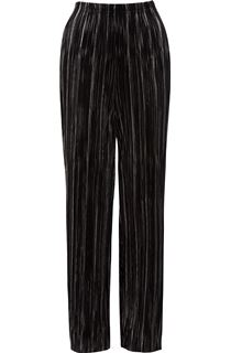 Metallic Pleat Trousers