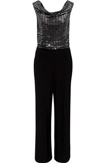 Embellished Cowl Neck Jumpsuit