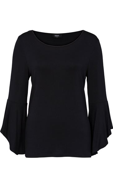 Three Quarter Bell Sleeve Jersey Top
