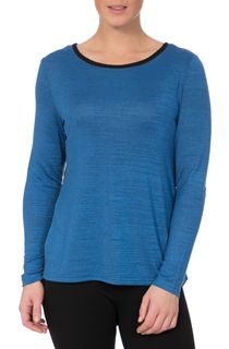 Long Sleeve Knit And Georgette Top