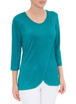 Wrap Over Knit Top