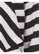 Stripe Three Quarter Sleeve Waterfall Jacket