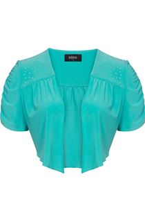 Embellished Cover Up - Turq