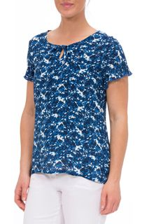 Anna Rose Tie Neck Printed Top