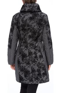 Floral Flock Design Coat
