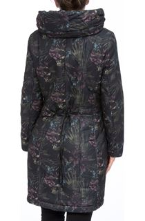 Padded Botanical Printed Coat