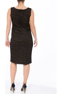 Sleeveless Textured Ponte Midi Dress