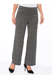 Monochrome Print Boot Cut Trousers