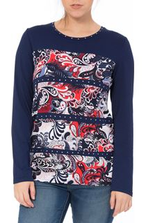 Anna Rose Long Sleeve Print Panel Top