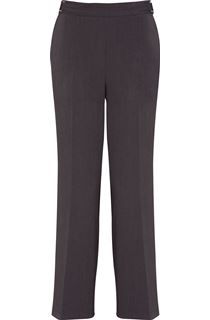 Anna Rose Straight Leg Trousers 29 Inch - Charcoal