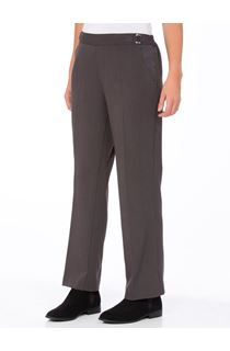 Anna Rose Straight Leg Trousers 27 Inch - Charcoal