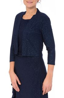 Open Front Sparkle Cover Up - Blue