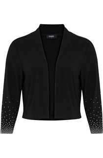 Embellished Cover Up With Sleeves - Black