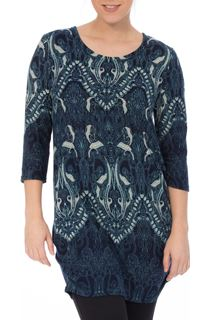 Printed Three Quarter Length Sleeve Tunic