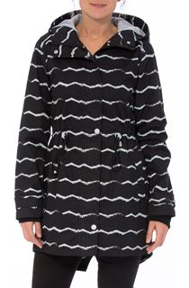 Striped Monochrome Raincoat