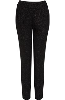 Tapered Pull On Sparkle Trousers - Blue