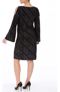 Bell Sleeve Sparkle Midi Dress