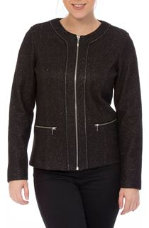 Unlined Sparkle Zip Jacket
