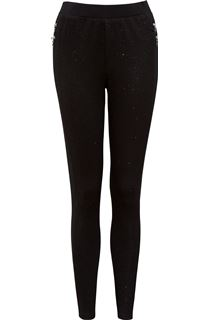 Glittering Zip Detail Trousers