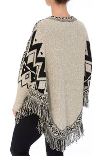 Knitted Sleeved Cape