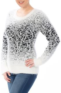 Monochrome Eyelash Knit Top