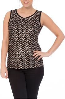 Chevron Sequin Sleeveless Top