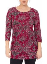 Printed Brushed Knit Tunic