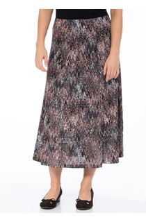 Anna Rose Muted Watercolour Print Skirt