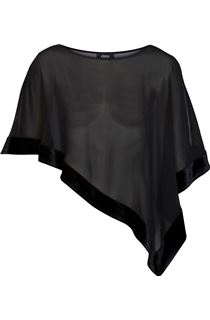 Velour Trim Chiffon Cover Up
