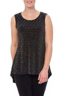 Sleeveless Spangle Jersey Top