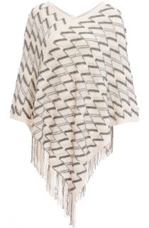 Fringed Knit Cape