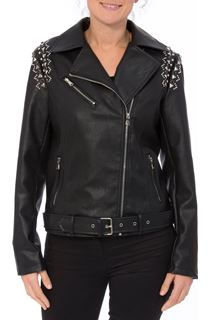 Studded Faux Leather Biker Jacket