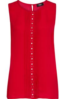 Sleeveless Eyelet Chiffon Top