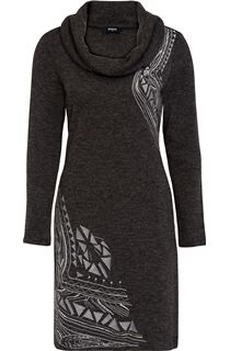 Embroidered Long Sleeve Embellished Tunic