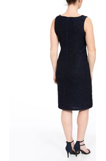 Textured Sparkle Fitted Midi Dress