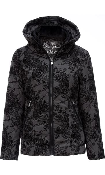 Zip Fastening Flock Coat