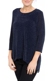 Pleat Panel Shimmer Top