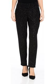 Tapered Pull On Sparkle Trousers - Black/Rainbow