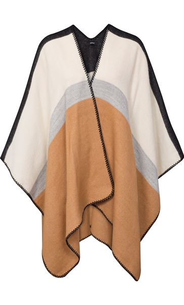 Colour Block Knitted Shawl