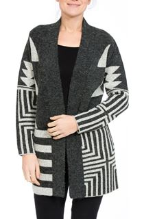 Geometric Open Knit Cardigan
