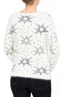 Eyelash Knitted Star Top