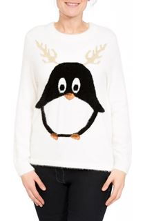Penguin Design Long Sleeve Knit Top